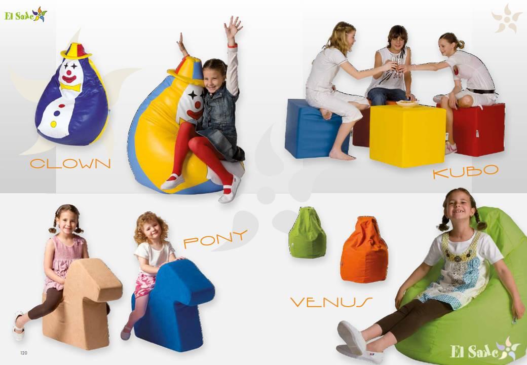 El Sake   kinderstoelen en zitzakken
